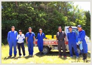 お世話になった井関農機の皆さま♡(※すっかり紛れていますが、左から4人目は弊社の井上です) ありがとうございました!